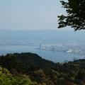比叡山より大津市を望む