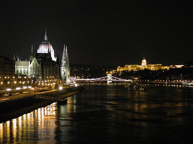 ブダペスト 王宮、国会議事堂、鎖橋