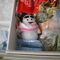 写真: 冷凍庫にいたずら