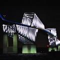 写真: ライトアップ恐竜橋