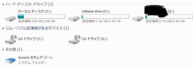 Photos: ハードディスク構成