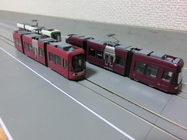 模型:広電の1000形達