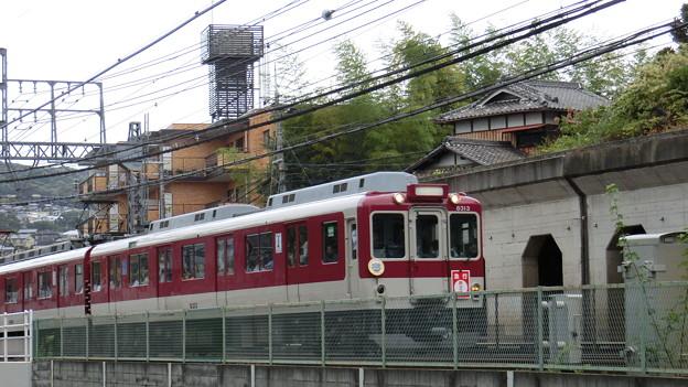 生駒線と田原本線の近鉄合併50周年で奈良線を走る田原本線の車両。