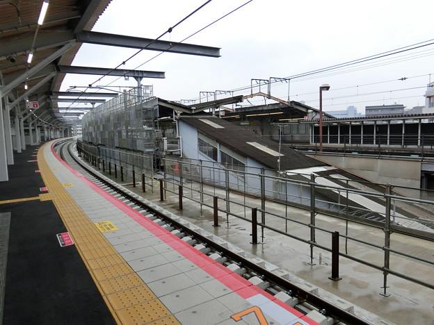 鴫野駅新ホーム使用開始。