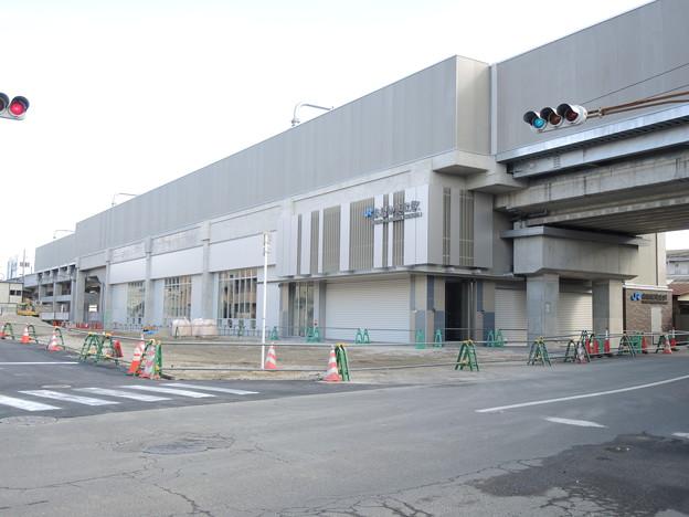 開業間近!衣摺加美北駅。