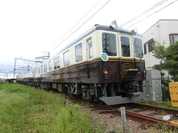 八木西口短絡線を走る観光列車『つどい』。