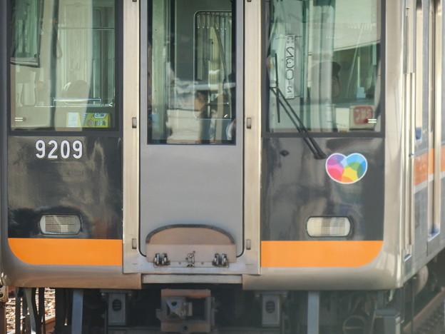 阪神9000系の「大切がギュッと」ステッカーの位置について(奈良方先頭車)