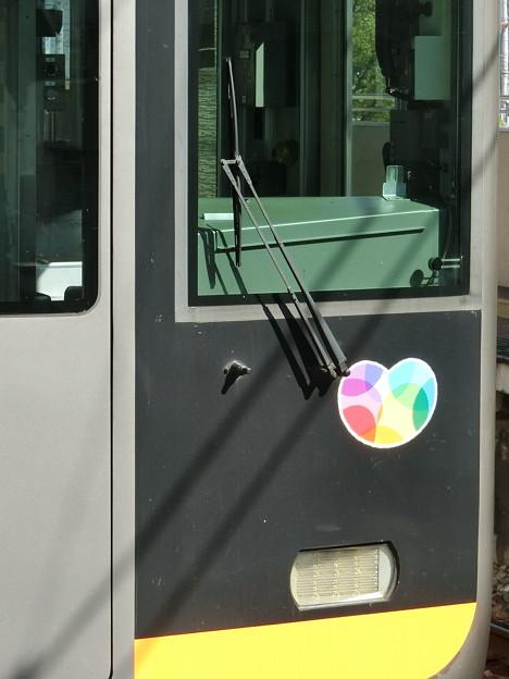 Photos: 阪神9000系の「大切がギュッと」ステッカーの位置について(姫路方先頭車)