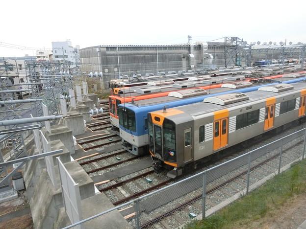 阪急の車両が阪神の尼崎車庫に。