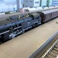 模型:E10蒸気機関車と旧客。