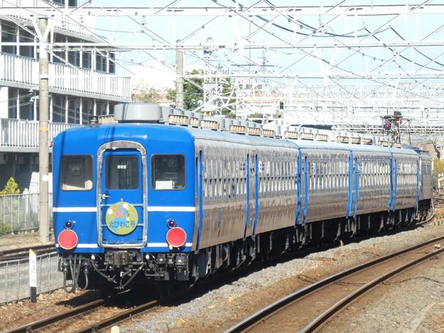 草津駅に留置中の、『SL北びわこ号』の客車。