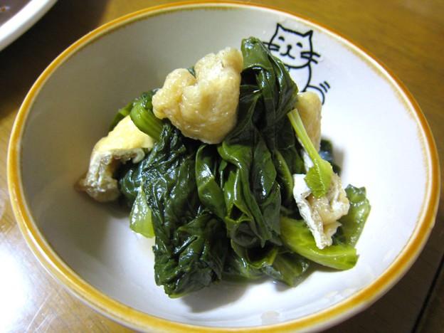 高菜と小松菜と油揚げと私…