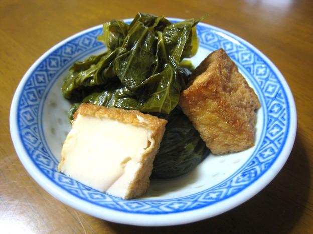 高菜と厚揚げの煮物…