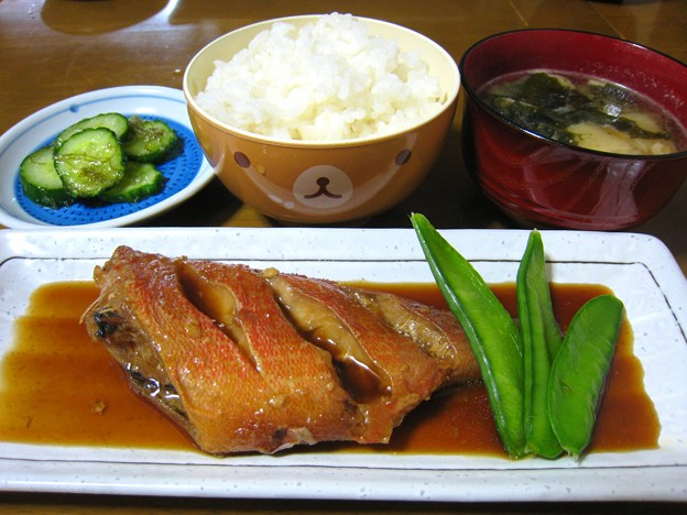 煮魚定食風…