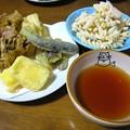 Photos: 野菜の天ぷら定食風…