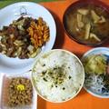 Photos: 焼き肉定食風・・・