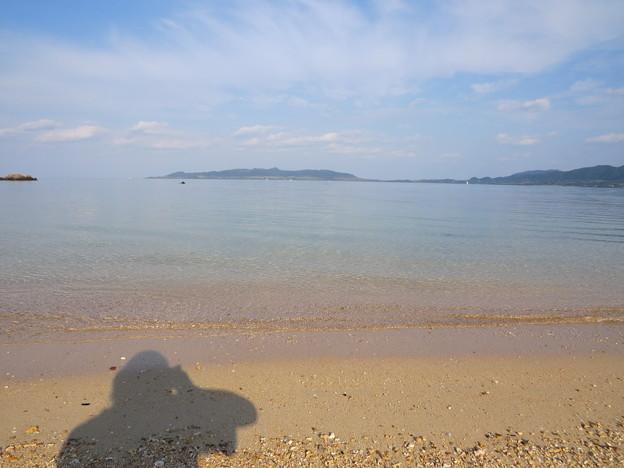 今朝の名蔵湾