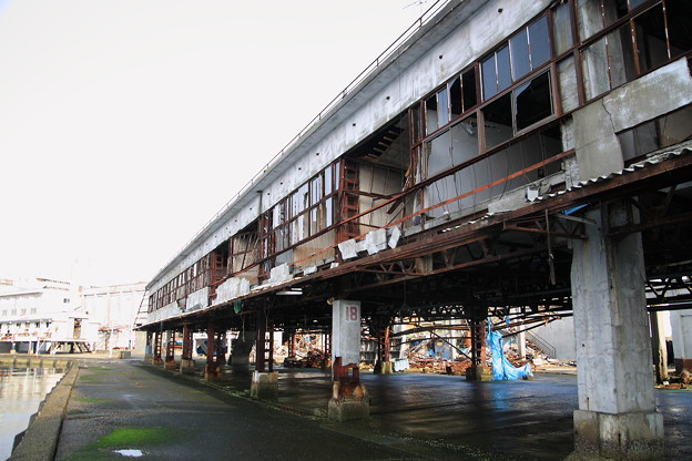 津波直撃された釜石魚市場