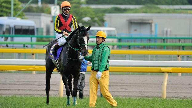[140525東京11R優駿牝馬]マジックタイム「なんか私もすこし足がすくんできました…」 #ジロリ馬