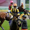 [140525東京11R優駿牝馬]ブランネージュ「ああ、こんなところでペタペタされちゃって、恥ずかしい///」秋山「いいなあ、おい」