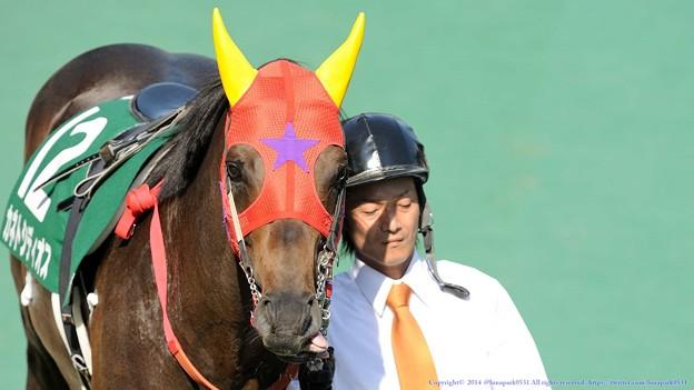Photos: [140615東京11RエプソムC]カネトシディオス「あ、失礼しました、真面目になってみますよ(キリッ」←舌越してるよ