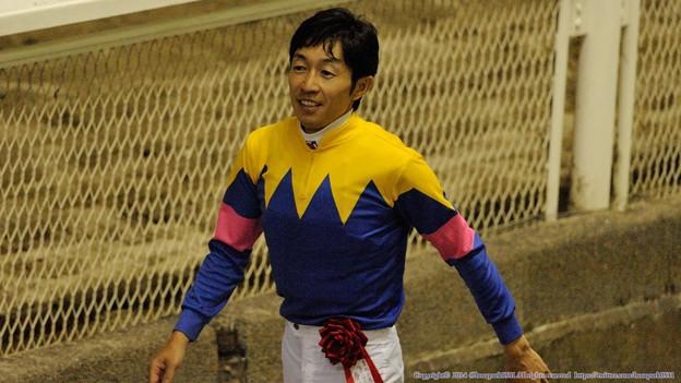 [140702川崎11RスパーキングレディーC]肩の荷が下りたかのようなユタカ。 #chihokeiba