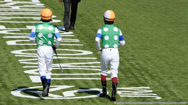[140511東京10RブリリアントS]→ノリさん(左)「さあていってみよう」福永(右)「すごい画っすねえ」