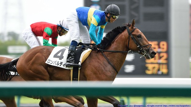 [140727中京5R新馬]新馬戦を勝ったロンバルディア&北村宏 #keiba