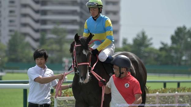 [140727中京9R中京2歳S]ペガサスボス&北村宏「うーん…新馬の時よりも人気してるけど大丈夫かな、母ちゃん」