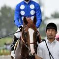 Photos: [140727中京5R新馬]タイセイメテオ&蛯名「こっちは厳しい顔されてます…」