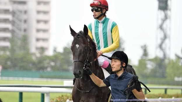 [140727中京5R新馬]マインリーバー&藤岡康「少し緊張してきました」