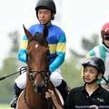 Photos: [140727中京5R新馬]ロンバルディア&北村宏「結構降ってるけどまあがんばります」