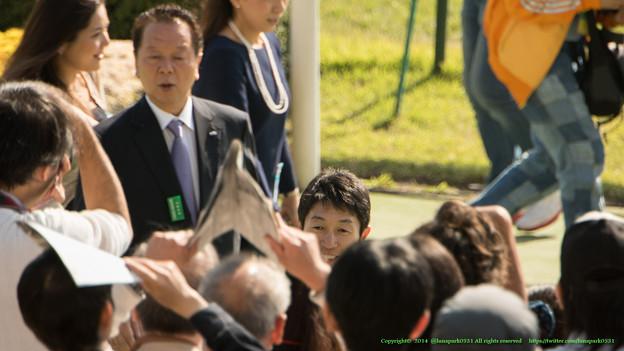 Photos: マエコーさん「朝からユタカ祭りですな~」【141026京都1R】
