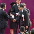石坂浩二さん(兵ちゃん)「おめでとうございます」藤沢先生「この花束鑑定に出したらいくらになりますか?」【141102東京11R天皇賞(秋)】