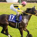 Photos: ブランネージュ(秋山)「今回はちょっとしんどいかも。けど来年に繋げる競馬にしたいです」【141116京都11Rエリザベス女王杯】
