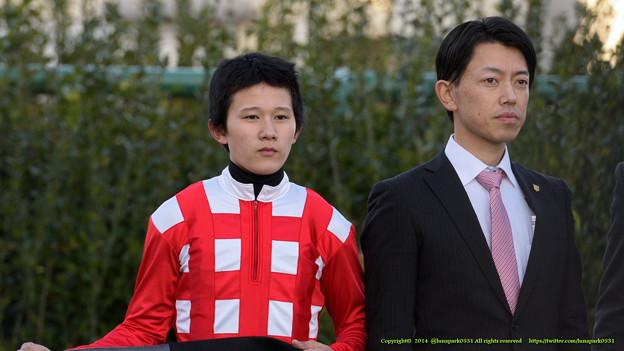 石川Jと大和田先生「ミナレットのハートに撃ち抜かれてます」【141207中山11RターコイズS】