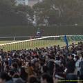 Photos: ジャスタウェイ「7番ジャスタウェイ、『ひとり京都記念』やりま~す」福永「勘弁してくださいよ…」【150104京都ジャスタウェイ引退式】
