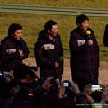 Photos: 引退式前のトークイベント、タカさん、武さん、蛯名さん、その他若手のみなさん【141228中山ジェンティルドンナ引退式】
