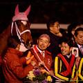 Photos: ジェンティルドンナ「戸崎さん、ここで笑顔ですかそうですか~」【141228中山ジェンティルドンナ引退式】