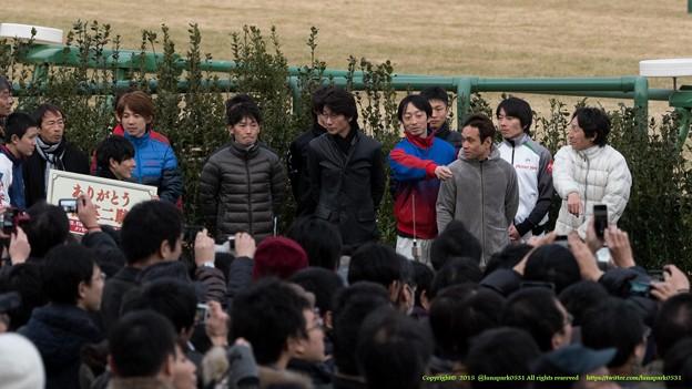横山典、武士沢「どうぞどうぞ~」【150125中山中舘英二騎手引退式】