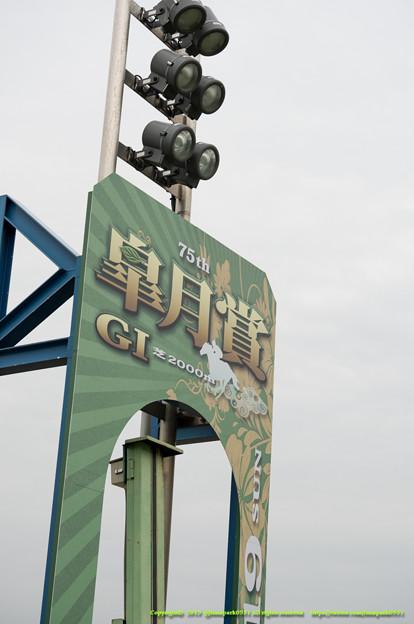 芝コースゴール板【150419中山馬場開放】