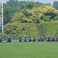 写真: 400m、隊列が変わらぬまま坂を登ってくる【160529東京10R東京優駿(日本ダービー)】