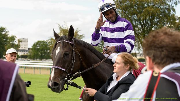 ペドロサ騎手「まあ、勝っちゃいました~」[161001シャンティイC4_QatarPrixDollar(GII)] #Chantilly