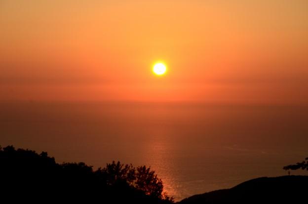 国見岳からの夕日