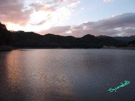 2012.9.17 前川ダムの夕焼け