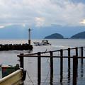 漁港を出発
