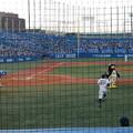 写真: 試合開始  守備につく松井淳