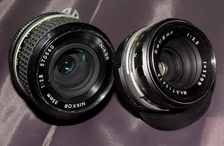 Soligor 35mm f/3.5とNIKKOR 35mm f/2.8