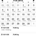 Photos: 20121207体重の記録