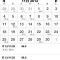 Photos: 20121207腹囲の記録